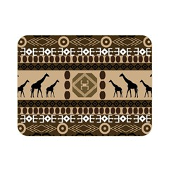 Giraffe African Vector Pattern Double Sided Flano Blanket (mini)
