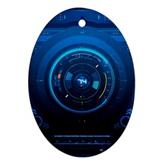 Technology Dashboard Ornament (oval) by BangZart