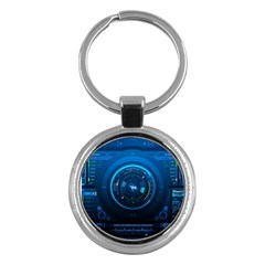 Technology Dashboard Key Chains (round)  by BangZart