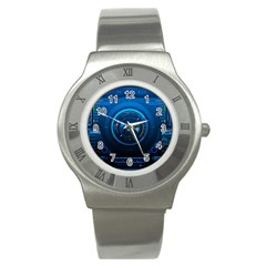 Technology Dashboard Stainless Steel Watch