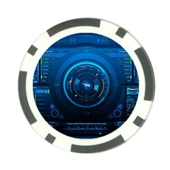 Technology Dashboard Poker Chip Card Guard by BangZart