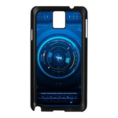 Technology Dashboard Samsung Galaxy Note 3 N9005 Case (black) by BangZart