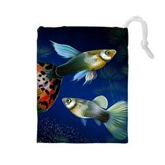 Marine Fishes Drawstring Pouches (large)  by BangZart