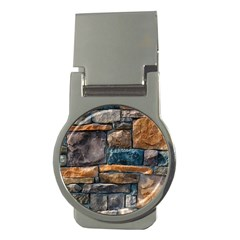 Brick Wall Pattern Money Clips (round)  by BangZart