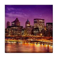 City Night Face Towel by BangZart