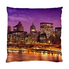 City Night Standard Cushion Case (one Side)