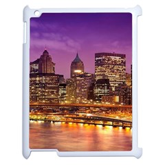 City Night Apple Ipad 2 Case (white) by BangZart