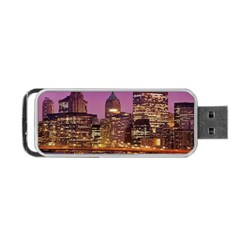 City Night Portable Usb Flash (two Sides)