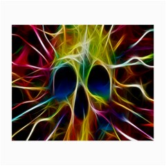 Skulls Multicolor Fractalius Colors Colorful Small Glasses Cloth (2 Side) by BangZart