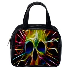 Skulls Multicolor Fractalius Colors Colorful Classic Handbags (one Side)