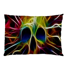Skulls Multicolor Fractalius Colors Colorful Pillow Case (two Sides)