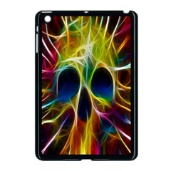 Skulls Multicolor Fractalius Colors Colorful Apple Ipad Mini Case (black)