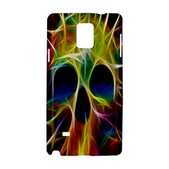 Skulls Multicolor Fractalius Colors Colorful Samsung Galaxy Note 4 Hardshell Case