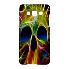 Skulls Multicolor Fractalius Colors Colorful Samsung Galaxy A5 Hardshell Case  by BangZart