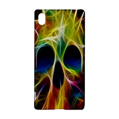 Skulls Multicolor Fractalius Colors Colorful Sony Xperia Z3+ by BangZart