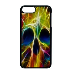 Skulls Multicolor Fractalius Colors Colorful Apple Iphone 7 Plus Seamless Case (black) by BangZart