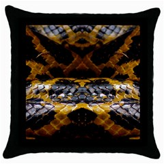 Textures Snake Skin Patterns Throw Pillow Case (black) by BangZart
