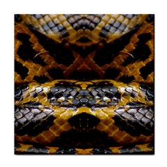 Textures Snake Skin Patterns Face Towel by BangZart