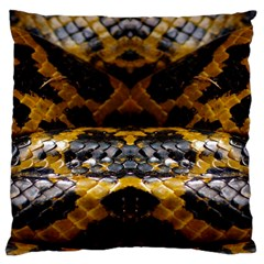 Textures Snake Skin Patterns Large Flano Cushion Case (one Side) by BangZart