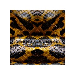 Textures Snake Skin Patterns Small Satin Scarf (square)