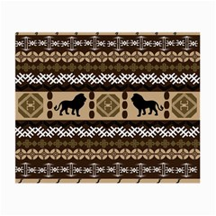 Lion African Vector Pattern Small Glasses Cloth