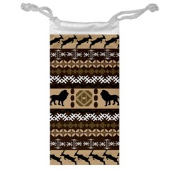 Lion African Vector Pattern Jewelry Bag