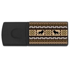 Lion African Vector Pattern Rectangular Usb Flash Drive by BangZart
