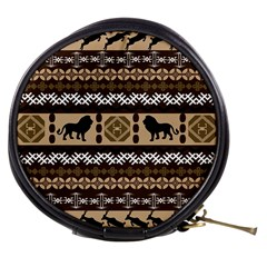Lion African Vector Pattern Mini Makeup Bags
