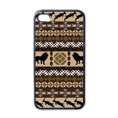 Lion African Vector Pattern Apple Iphone 4 Case (black) by BangZart