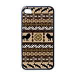 Lion African Vector Pattern Apple iPhone 4 Case (Black) Front