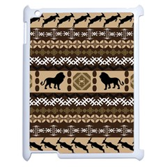 Lion African Vector Pattern Apple Ipad 2 Case (white) by BangZart