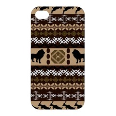 Lion African Vector Pattern Apple Iphone 4/4s Premium Hardshell Case by BangZart