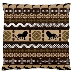 Lion African Vector Pattern Large Cushion Case (one Side)
