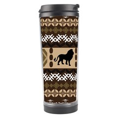 Lion African Vector Pattern Travel Tumbler
