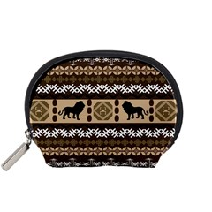 Lion African Vector Pattern Accessory Pouches (small)