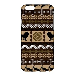 Lion African Vector Pattern Apple Iphone 6 Plus/6s Plus Hardshell Case