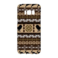 Lion African Vector Pattern Samsung Galaxy S8 Hardshell Case