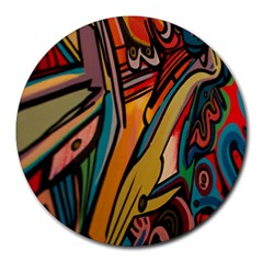 Vivid Colours Round Mousepads by BangZart