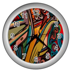 Vivid Colours Wall Clocks (silver)  by BangZart