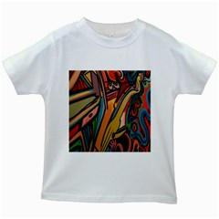 Vivid Colours Kids White T-shirts