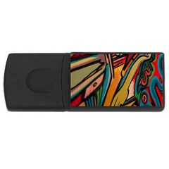 Vivid Colours Rectangular Usb Flash Drive by BangZart