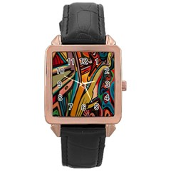 Vivid Colours Rose Gold Leather Watch