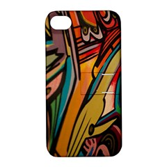 Vivid Colours Apple Iphone 4/4s Hardshell Case With Stand