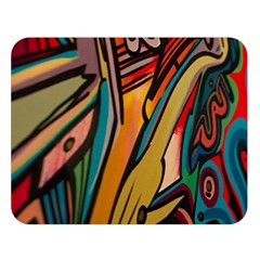 Vivid Colours Double Sided Flano Blanket (large)