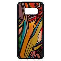 Vivid Colours Samsung Galaxy S8 Black Seamless Case by BangZart