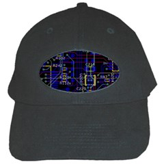 Technology Circuit Board Layout Black Cap