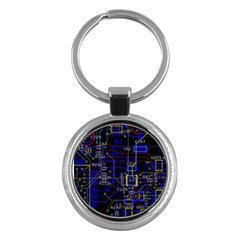 Technology Circuit Board Layout Key Chains (round)  by BangZart