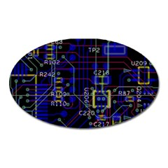 Technology Circuit Board Layout Oval Magnet by BangZart