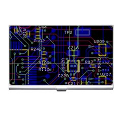 Technology Circuit Board Layout Business Card Holders by BangZart