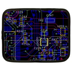Technology Circuit Board Layout Netbook Case (xxl)  by BangZart